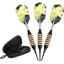 Viper Spinning Bee Soft Tip Darts with Casemaster Storage/Travel Case, Black, 16 Grams