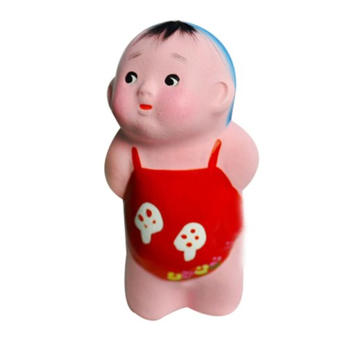 2 Pcs Creative Clay Sculpture Chinese Clay Doll  Cute Decoration Clay