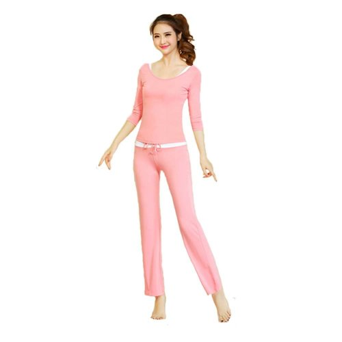 Womens Fitness Dance Yoga Wear Set 3 Pieces Fitness Yoga Apparel Dance Outfit