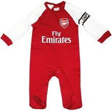 Official Arsenal Baby Core Kit Sleepsuit - 2017/18 Season (6-9 Months)