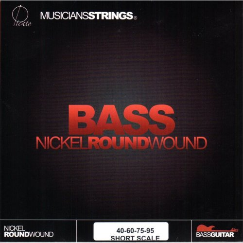 Picato Short Scale Bass Strings Nickel Round Wound, 40-95 Gauge