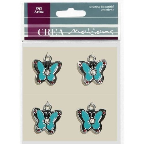 Pale Blue Butterfly Charms By Artoz