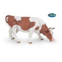 Papo Grazing Simmental Cow Figurine - Farm Animals Figures 51147 Realistic -  papo farm animals figures 51147 cow grazing realistic model toy