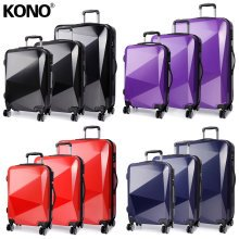KONO Diamond Luggage Suitcase 20 24 28 Inch