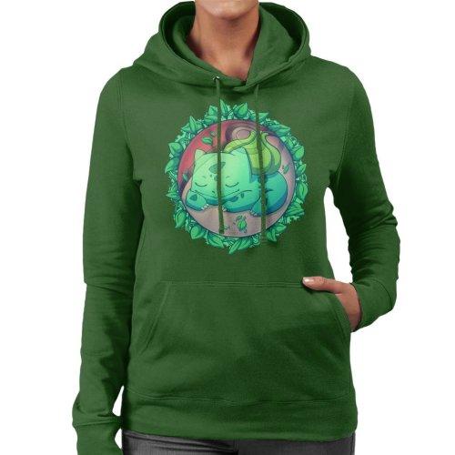 Bulbasaur Hidden Grass Ball Pokemon Women's Hooded Sweatshirt