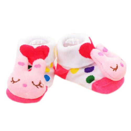 3 Pairs Non-slip Newborn Baby Boy Girls Toddler Socks Warm Non-skid Stockings Baby Gift For 6-12 Month Baby-A06