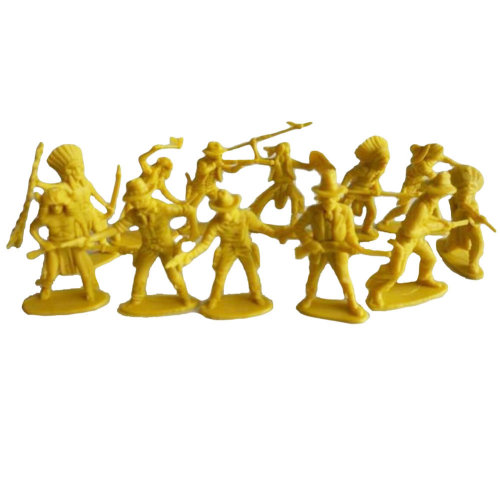 60 Pcs Toy Soldiers Gifts /Cars/Trucks /Tractors/Toy Guns Models -Yellow 1:36