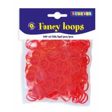 * Playbox - Loops (Loom Bands)- 500pcs red