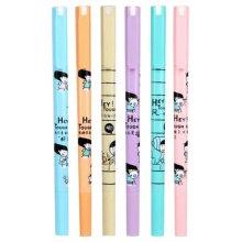 Set Of 6 Highlighter Color Marking Crayons Dauber Gel Pens Round