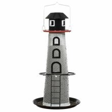 No/No Solar Powered LED Lighthouse Wild Bird Feeder