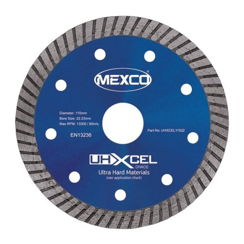 Mexco UHXCEL 115mm Ultra Hard Materials Porcelain Diamond Blade