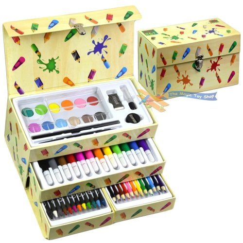 Children's 54 Pieces Craft Art Artists Set in A Box With Drawers
