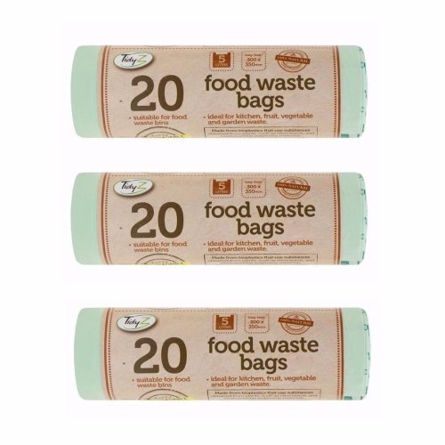 60x Caddy Liner Compostable Biodegradable Food Waste Bags 5 Liter