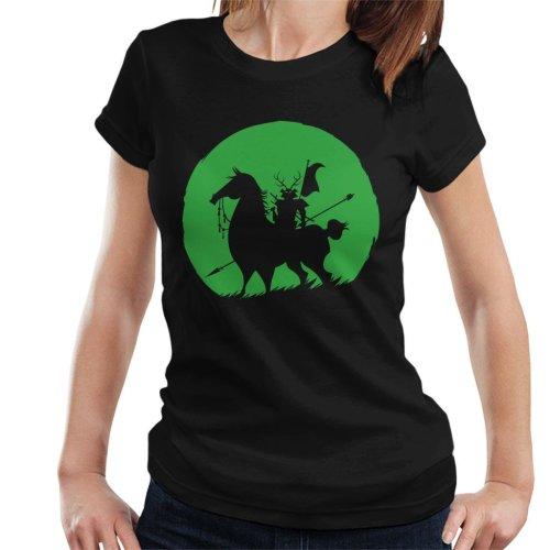 Shadow Warrior Green Silhouette Samurai Jack Women's T-Shirt