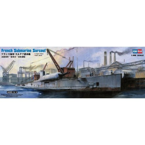 Hbb83522 - Hobbyboss 1:350 - French Surcouf Submarine Cruiser