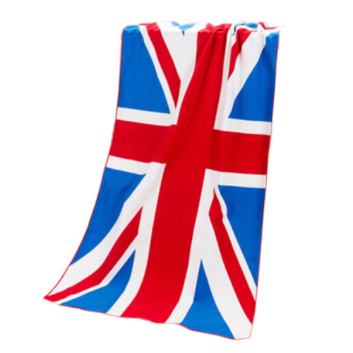 Large Soft Beach Towels 140*70cm, British Flag Pattern
