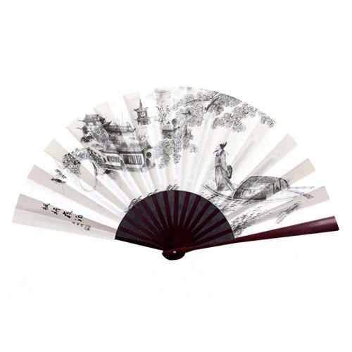 Chinese Style Traditional Hand Held Fan Folding Fan Bamboo Hand Fan,D2