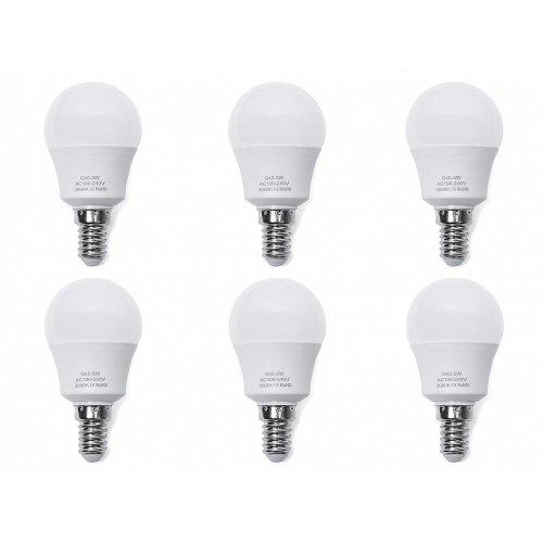 6x  LED Light Bulb - Low Energy - Warm White - 5W, E14, 4.5x8.2cm