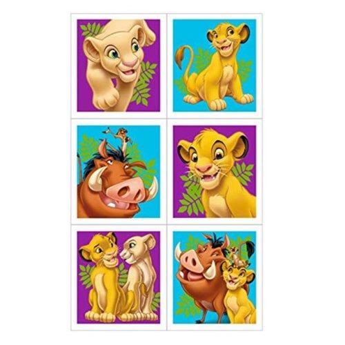 Unique Industries 310020 The Lion King Sticker Sheets - 4 Count