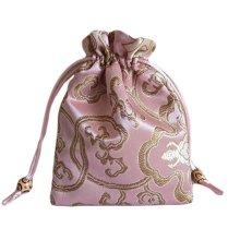Fashion Jewelry Pouch Drawstring Bag Cloth Gift Bag 10pcs-Pink
