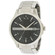 Armani Exchange Stainless Steel Black Dial 46MM Mens Watch AX2103