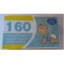 Nappy Bags with Tie Handles 160 Pack