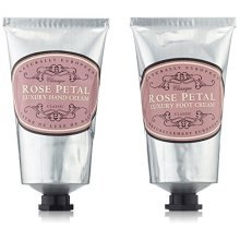 Naturally European Rose Petal Luxury Hand And Foot Cream Gift Set 2 x 75ml