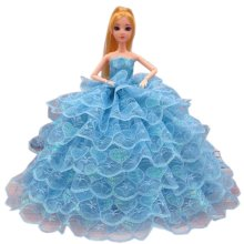 Elegant Dolls Wedding Party Dress Princess Clothes Dolls Outfits for Girl Birthday Gift, M