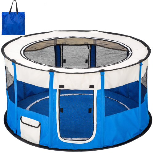 Dog pen Carola blue