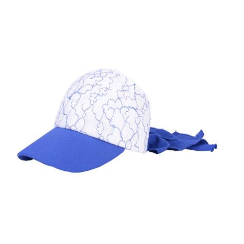 Girls' Beautiful Fashional Visor Sport Hat\Summer SunProof Lace Edge Hat(Blue)