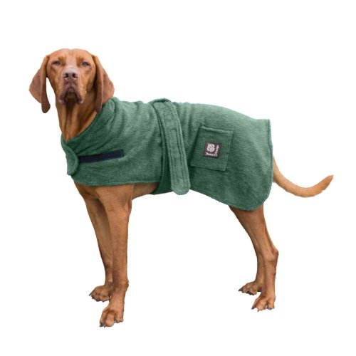 Dog Robe Towelling Green 60cm