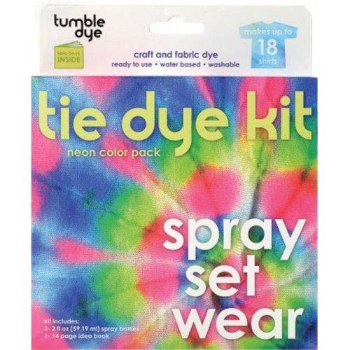131092 Tumble Dye Craft And Fabric Dye Kit-Neon-Pink-Blue-Green