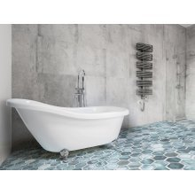 Freestanding Bath - Bathtub - Slipper Bath -  White Acrylic - CAYMAN