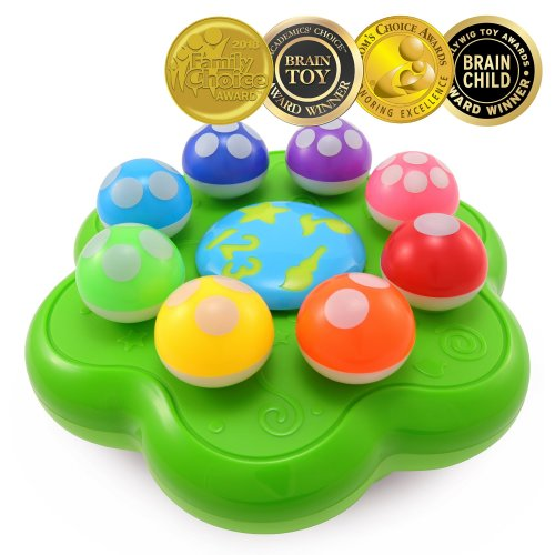 BEST LEARNING Mushroom Garden - Educational Toy to Learn Numbers, Colors, Music and Quiz for Toddlers Kids