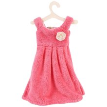 Lovely Princess Dress Hanging Kitchen Bathroom Hand Towel Cloth Towel Absorbent Towel Red # 1