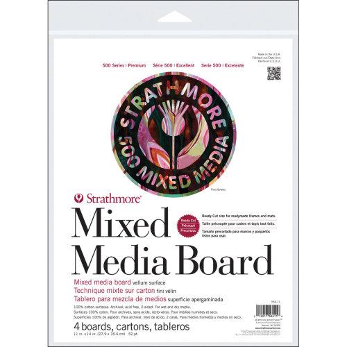"Strathmore Mixed Media Boards 4/Pkg-11""X14"""