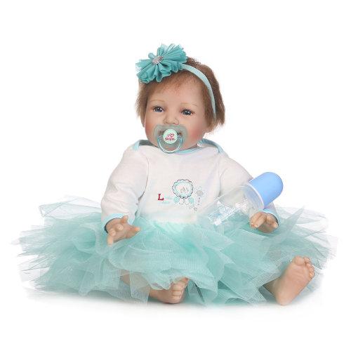 55cm Opening Eyes Reborn Baby Doll Lifelike Fake Baby Doll