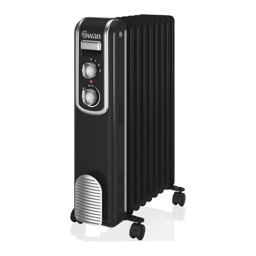 SWAN SH60010BN Oil-Filled Radiator - Black, Black
