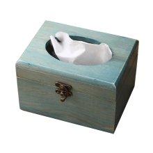Practical Retro Wooden Tissue Boxes Paper Pumping Box Convenient (f)