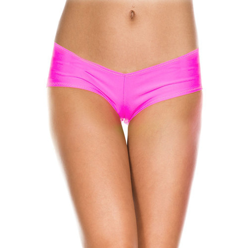 Micro mini shorts NEONPINK  Ladies Lingerie Thongs - Music Legs