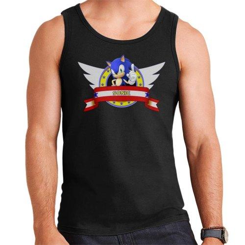 Sonic The Hedgehog Character Banner Men's Vest