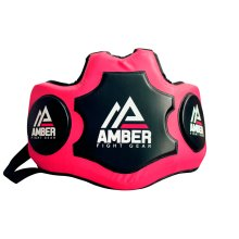 Amber Fight Gear Heavy Hitter Boxing Muay Thai MMA Kickboxing Training Chest Shield Rib Guard Body Protector