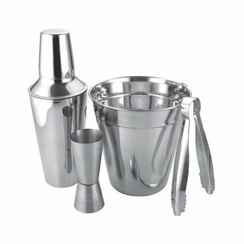4pc Stainless Steel Cocktail Drinks Shaker Ice Mixer Maker Bar Bartender Set Kit