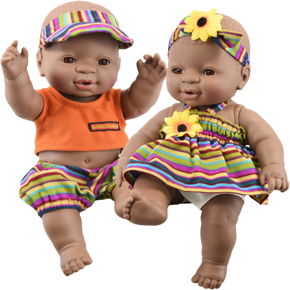 12 realistic lifelike vinyl black dark skin twin dolls ethnic african