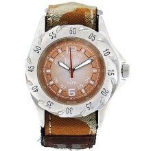 Terrain Beige Camouflage Velcro Strap Surf Gents Sports Analogue Watch TV-1311G