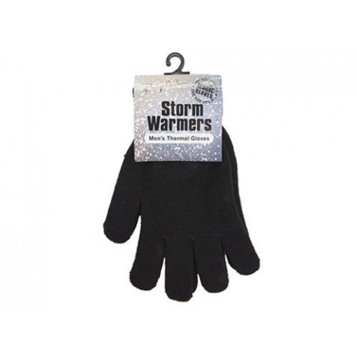 MENS BLACK MAGIC GLOVES STRETCHY KNITTED WINTER OUTDOOR SKIING WARM THERMAL