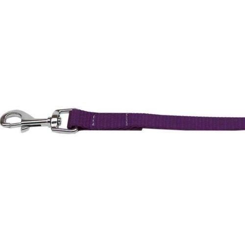 Mirage Pet 124-1 PR5806 Plain Nylon Pet Leash, Purple - 0.62 in. by 6 ft.