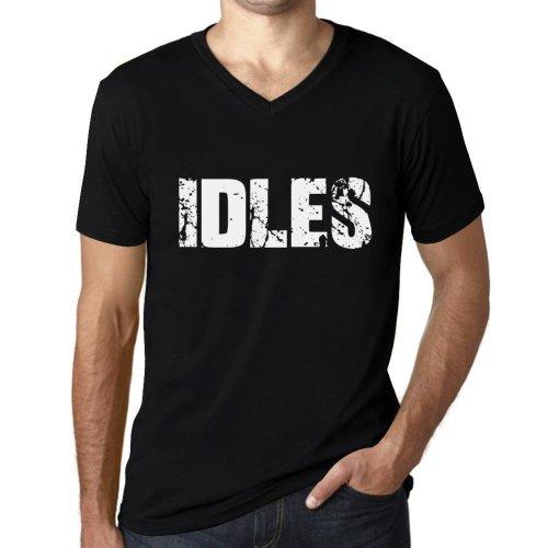 Mens Vintage Tee Shirt V-Neck Graphic T shirt IDLES