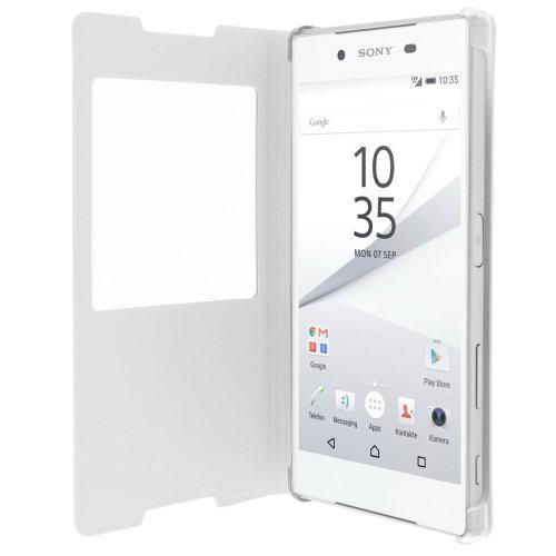 wholesale dealer f21dc 2107b Smart view window flip case for Sony Xperia Z5, slim cover – White ...