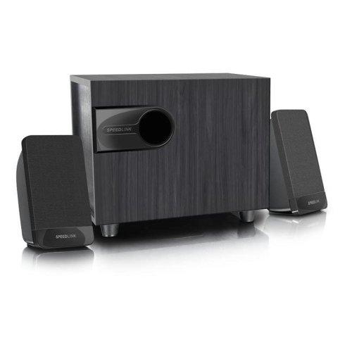 SpeedLink Libitone Compact 2.1 Subwoofer Speaker System - Black (SL-820007-BK)